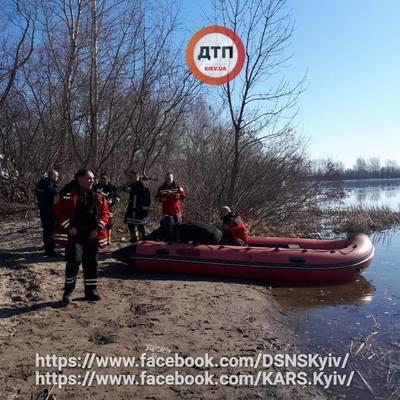 В Киеве нашли тела двух мужчин, перевернувшихся на лодке возле Жукова острова