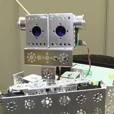 В Киеве школьники показали своих роботов (видео)