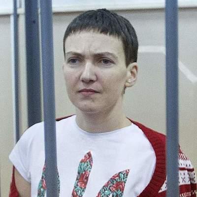 Надежда Савченко после голодовки (фото)