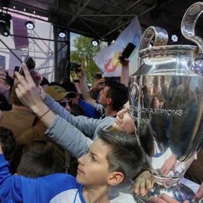 В Киев доставили Кубок Лиги чемпионов
