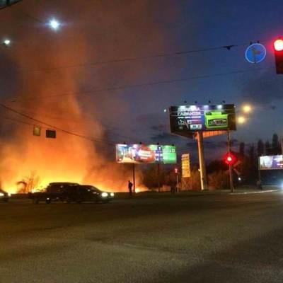 В Киеве 8 парней подожгли Совские пруды (фото)