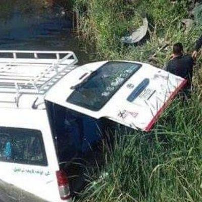 В Египте автобус с туристами вылетел с дороги в канаву