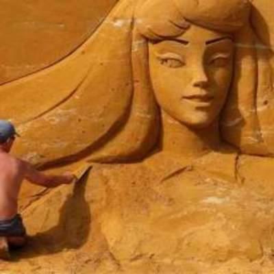 В Бельгии построили «Диснейленд» из песка (фото)