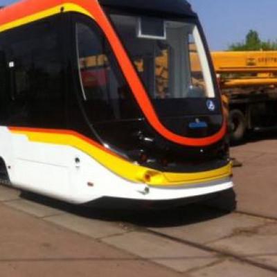 На левом берегу Киева пройдут испытания нового трамвайного поезда (фото)