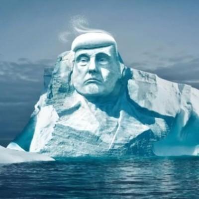 В Арктике создадут гигантскую голову Трампа изо льда