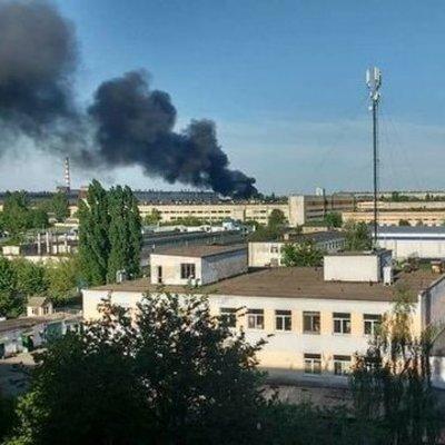 На Киевщине произошел пожар на заводе по производству автошин