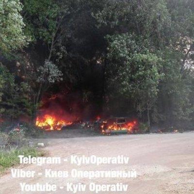 В Киеве сгорели более полусотни автомобилей