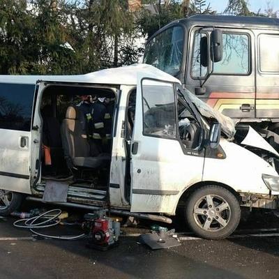 Автобус с украинцами попал в лобовую ДТП в Европе