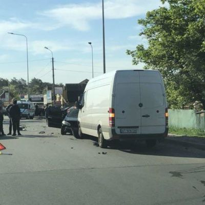 Масштабное столкновение парализовало дорогу из пригорода в Киев