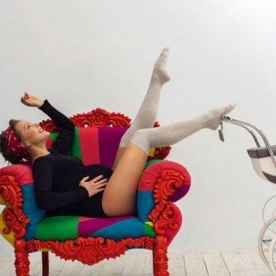 Алена Шоптенко на последних месяцах беременности показала бэкстейдж со съемок