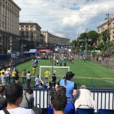 В Киеве открыли фан-зону финала Лиги чемпионов