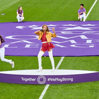 TAYANNA выступила на финале Лиги чемпионов УЕФА
