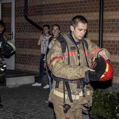 Пожар в ЖК «Tsarsky»: пострадал мужчина (фото)