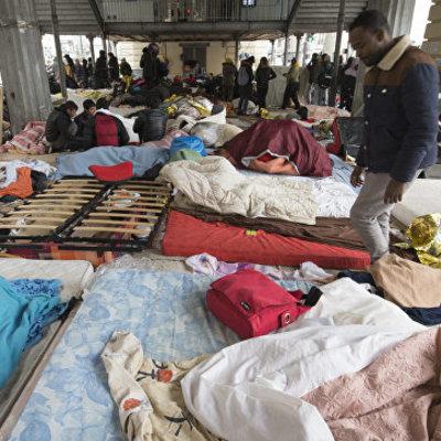 Во Франции эвакуируют крупнейший столичный лагерь мигрантов