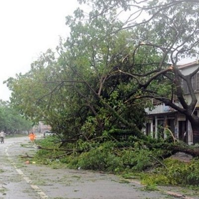 На юге Китая тайфун разрушил тысячи домов