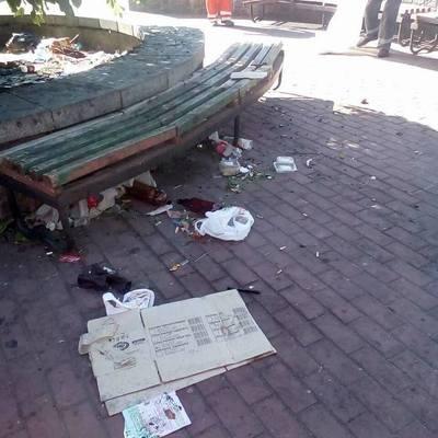 Ромы оккупировали территорию возле ж/д вокзала в Киеве (видео)
