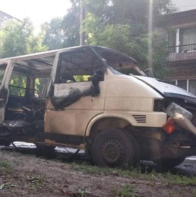 В Каменском взорвался микроавтобус с депутатом