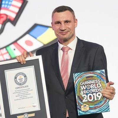 Братья Кличко попали в Книгу рекордов Гиннесса