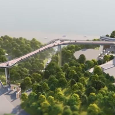Между Владимирской горкой и Аркой дружбы народов построят мост (видео)