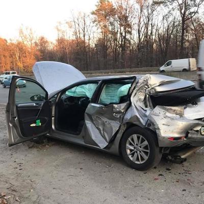 Нардеп опубликовал видео с моментом столкновения грузовика с его автомобилем