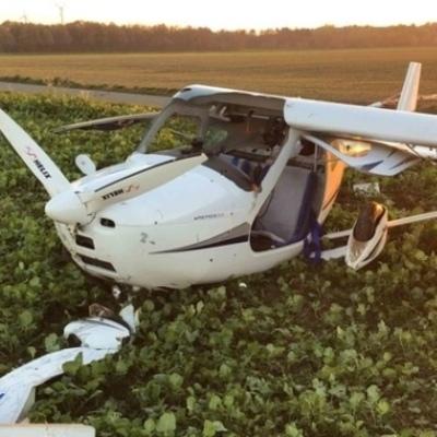 В Германии столкнулись два легких самолета, погиб пилот