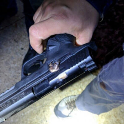 Пистолет остановил пулю и спас полицейского