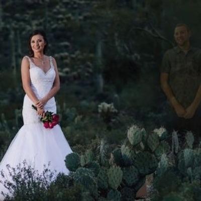 Невеста устроила фотосессию с «призраком» жениха после его смерти (фото)
