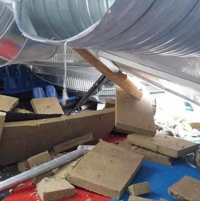 Правоохранители задержали подозреваемых в причастности к обвалу крыши в школьном спортзале в Вишневом