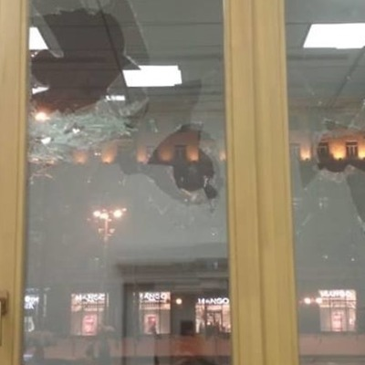 В Киевской мэрии побили окна