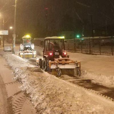 В сутки с улиц Киева было вывезено более 2 тонн снега