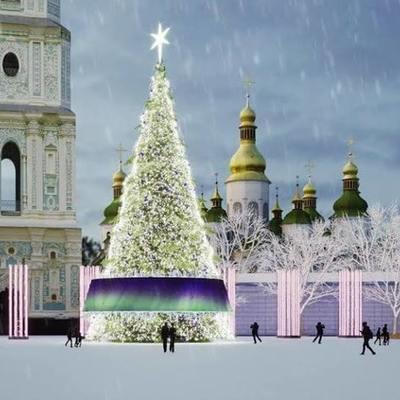 Завтра на Софийской площади официально зажгут главную елку Украины