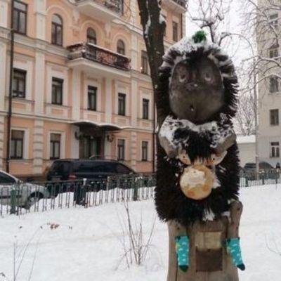 В Киеве ежик в тумане получил подарки от Святого Николая