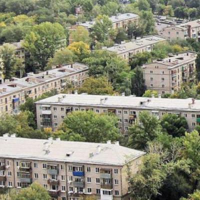 В Днепровском районе Киева 60% домов - хрущевки