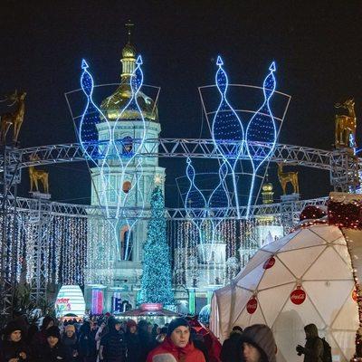 В выходные закрывается новогодний городок на Софийской площади