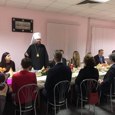 Епифаний встретился с семьями украинских политзаключенных