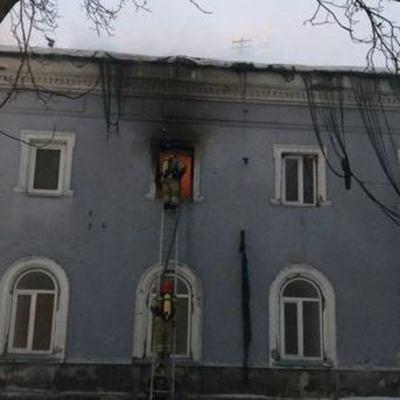 В Киево-Печерской лавре пожар
