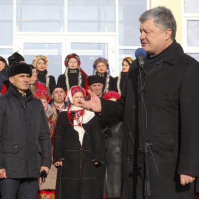 Президент привез Томос жителям Борисполя (видео)