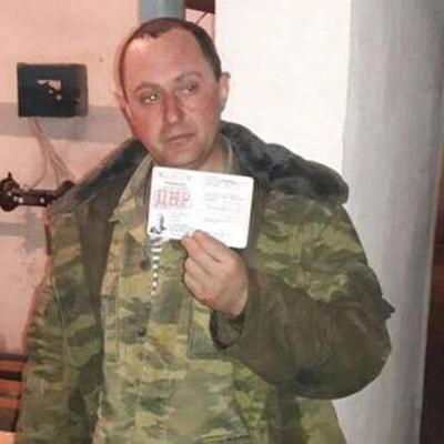На Донбассе боевика