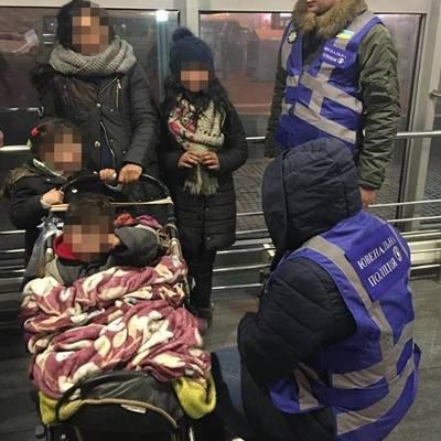 На вокзале Киева для сбора милостыни используют детей