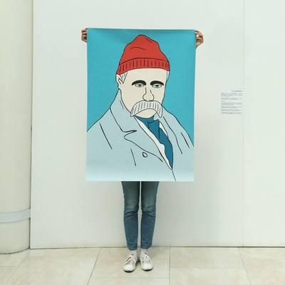 Националист изрезал портреты Шевченко в киевском метро
