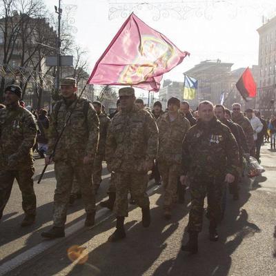 В Киеве прошел марш в память о защитниках Дебальцево (фото)