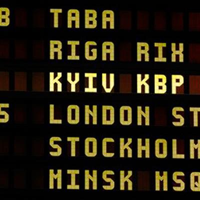 Вильнюсский аэропорт перешел на написание Kyiv и Lviv