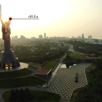 В Киеве заработала смотровая площадка на верхушке Родины-матери