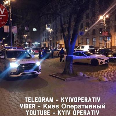 В центре Киева водитель Maserati устроил стрельбу из-за ДТП (фото)