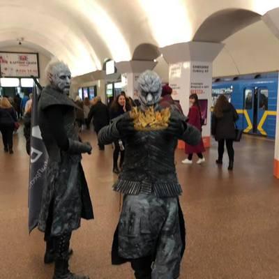 В киевском метро заметили Белых ходоков из «Игры престолов» (фото)