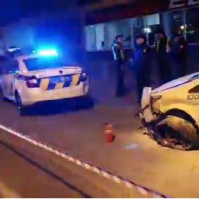 Угон полицейского авто в Киеве: патрульная в реанимации