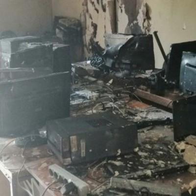В столице горело Министерство образования
