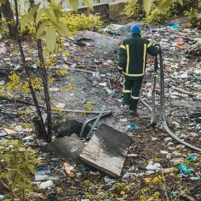 В столице горел коллектор, погибли люди