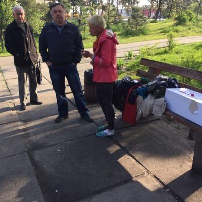 Опять вандалы: женщина обрывала тюльпаны в парке