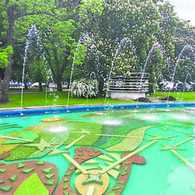 В центре Киева восстанавливают два знаменитых фонтана